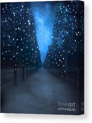 Paris Surreal Parks Canvas Prints
