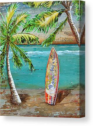 Tropical Sunset Mixed Media Canvas Prints