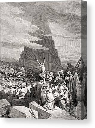 Tower Of Babel Gustave Dore Canvas Prints