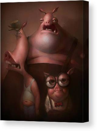 Pigs Canvas Prints