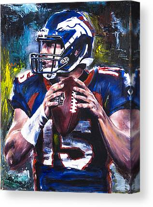 Tebow Paintings Canvas Prints