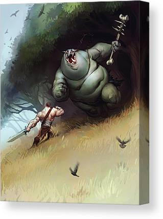 Troll Canvas Prints