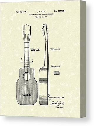 Ukelele Canvas Prints
