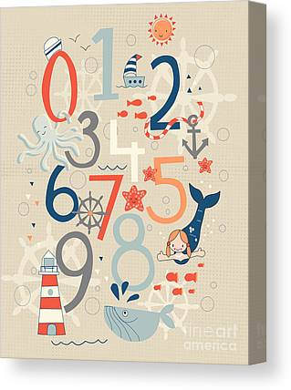 Numbers Canvas Prints