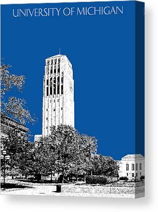 University Of Michigan Digital Art Canvas Prints