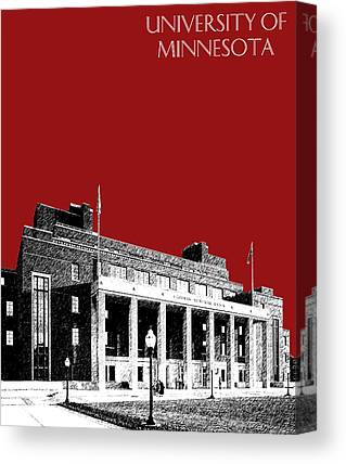 University Of Minnesota Digital Art Canvas Prints