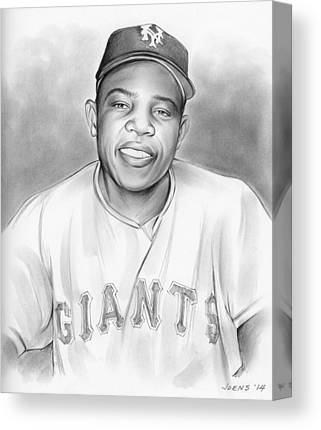 Willie Mays Canvas Prints