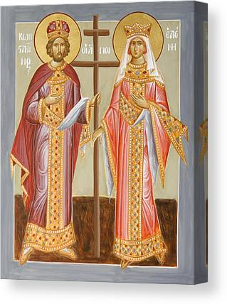 Sts Constantine And Helen Paintings Canvas Prints