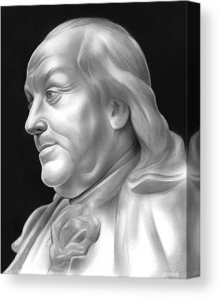 Declaration Of Independence Drawings Canvas Prints