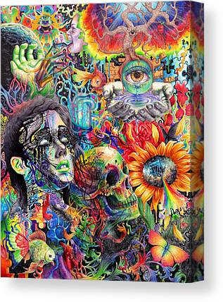 Trippy Paintings Canvas Prints