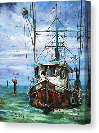 Shrimping Canvas Prints