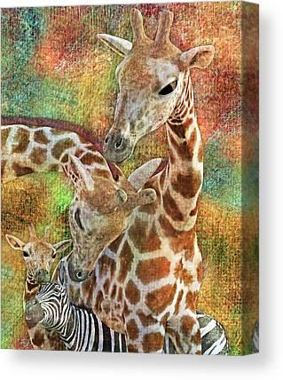 Caring Mother Digital Art Canvas Prints