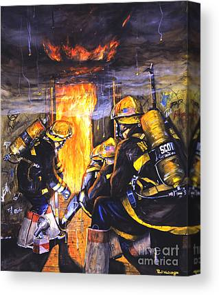 Fireman Canvas Prints