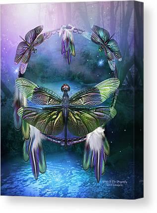 Dragonfly Art Canvas Prints