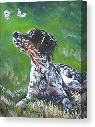 English Llewellin Setter Canvas Prints