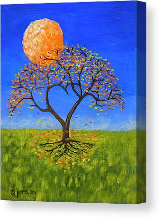 Full Moon Paintings Canvas Prints