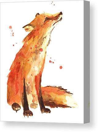 Red Fox Paintings Canvas Prints