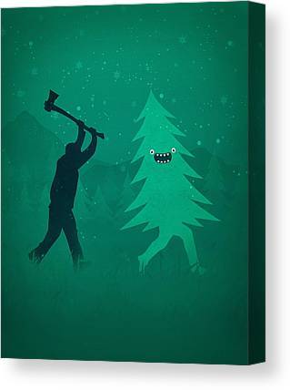 Forrest Digital Art Canvas Prints