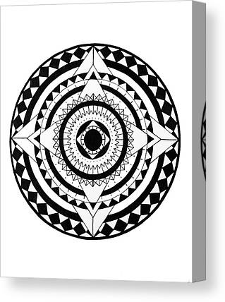 Circles Drawings Canvas Prints