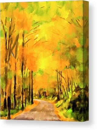 Smokey Mountain Drive Paintings Canvas Prints