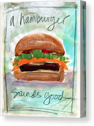 Hamburger Mixed Media Canvas Prints