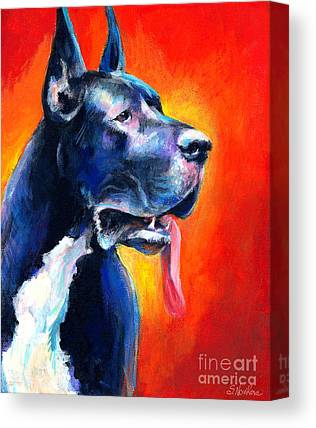 Great Dane Art Canvas Prints