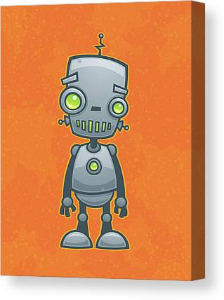 Robot Drawings Canvas Prints