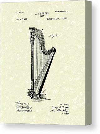 Harp Canvas Prints