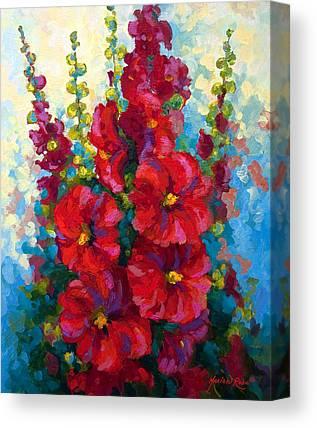 Hollyhocks Canvas Prints