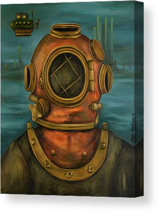 Merman Metal Canvas Prints