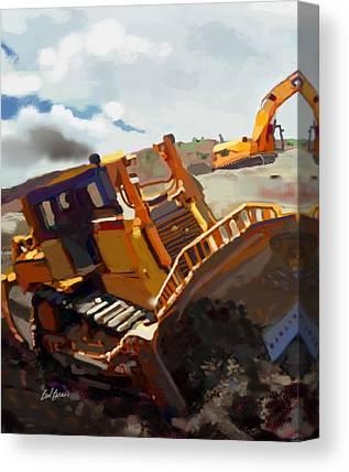 Bulldozers Canvas Prints