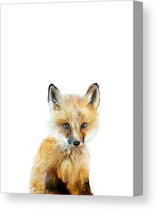 Baby Foxes Canvas Prints