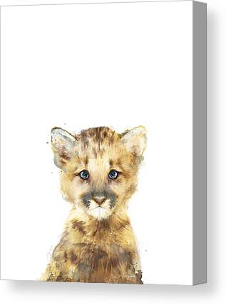 Baby Lions Canvas Prints
