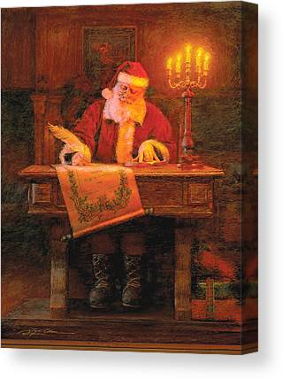 Christmas Candle Canvas Prints