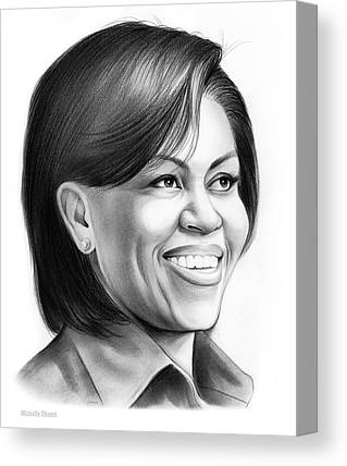 Michelle-obama Drawings Canvas Prints