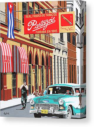 1950s Poster Paintings Canvas Prints