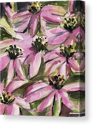Abstracted Coneflowers Canvas Prints