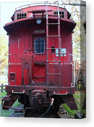 Old Caboose Canvas Prints