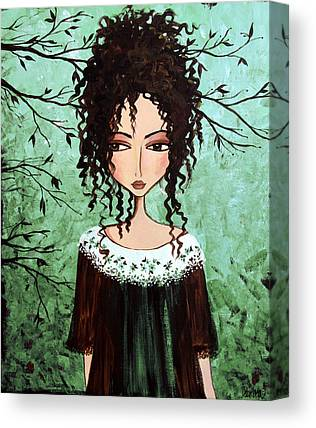 Curly Hair Canvas Prints