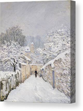 Snow-covered Landscape Canvas Prints
