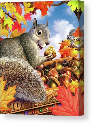 Bushy Tail Canvas Prints