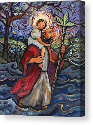 Saint Christopher Canvas Prints