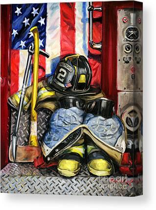 Fire Trucks Canvas Prints