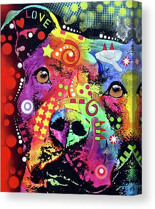 Pitbull Canvas Prints