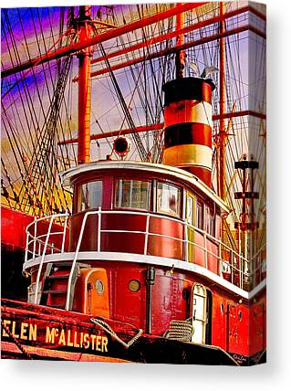 Tugboat Canvas Prints