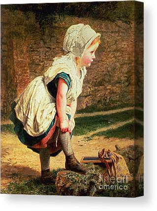 Returning Home From School Canvas Prints