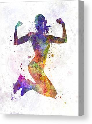 Jogging Canvas Prints