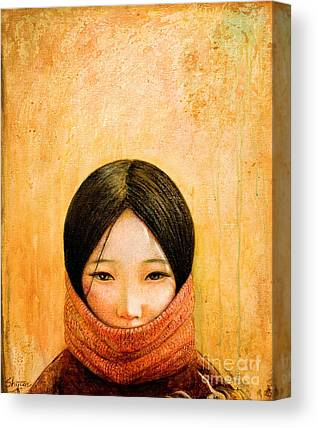 Asian Girl Canvas Prints