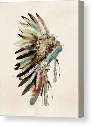 Headdress Canvas Prints