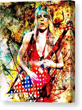 Canvas randy rhoads Art Print Poster